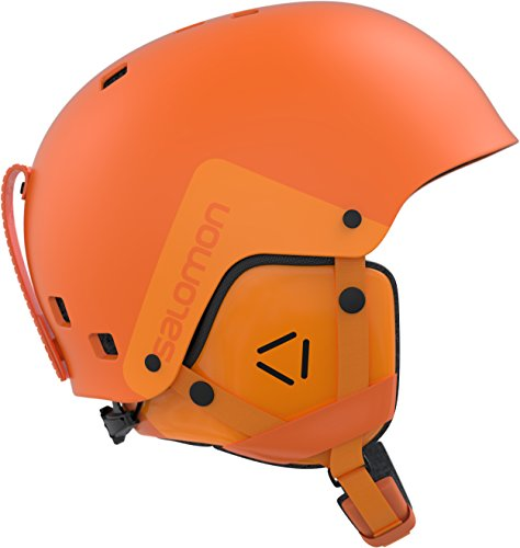Salomon, casco da sci e snowboard da uomo per snowpark, involucro abs, interno in mousse eps, taglia s, circonferenza 55-56 cm, brigade, arancione, l39915500