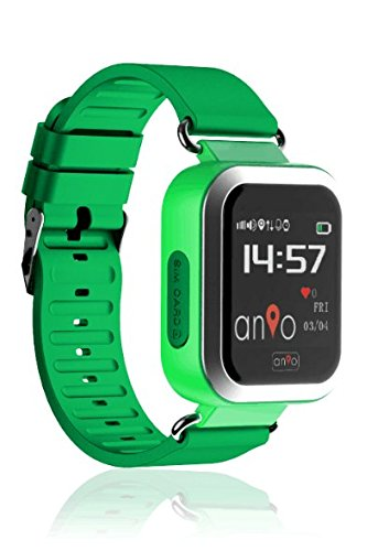 Anio3 touch GRÜN - Kinder GPS Smartwatch / Schutz für Ihr Kind / SOS Notruf + Telefonfunktion / KEINE MONITORFUNKTION / GPS Uhr / WIFI + LBS, CE & RoHS & EN71 DEUTSCHER SERVER - DEUTSCHE APP (Grün) (Uhr Wifi Touch Screen)
