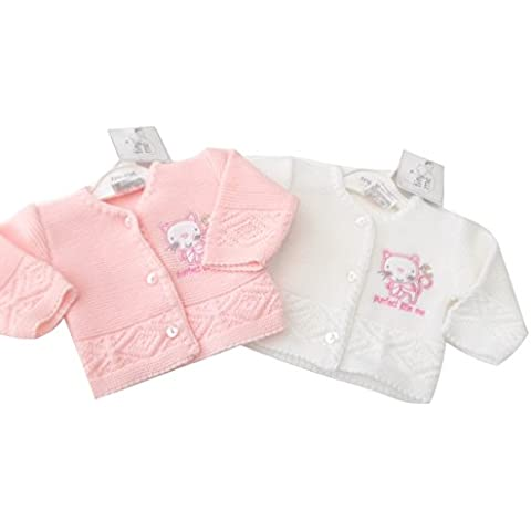 BNWT Bañador para bebé prematuro tiny Me Baby Peachy Rosa o Blanco Cardigan