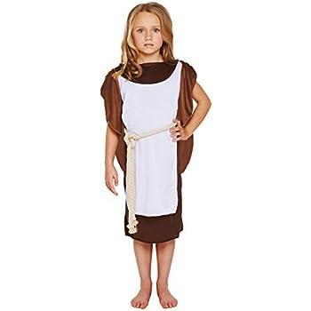 Viking Costume Roman Girls Warrior Princess Fancy Dress Kids Historical Outfit