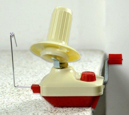 CKB Ltd Red & Beige Hand Operated Handbetriebene Wollwickler Wolle und Garn Yarn Fiber Wool String Ball Skein Winder Clamp on Machine