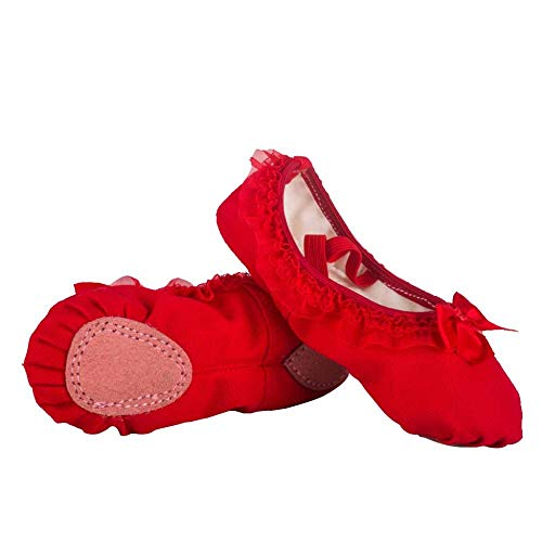 Women Ballet Shoes Flats Pilates Pointe Shoes Yoga Belly Dance Shoe Split Sole Flat Gymnastics Dancing Slippers For Children Adults Girls And Ladies