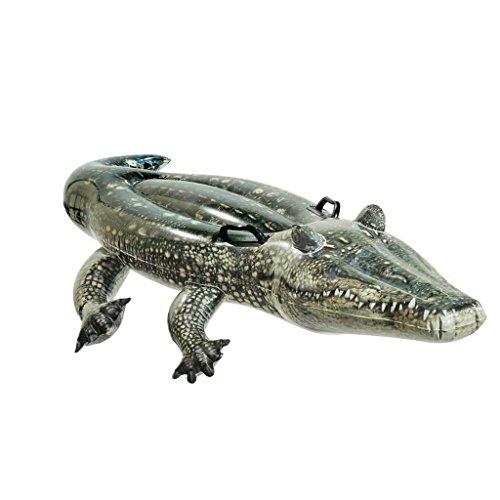 Reittier Badetier, Krokodil. Aufblasbares Krokodil Alligator für absoluten Badespaß! Mit Haltegriff aufblasbares Reittier Krokodil