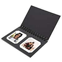 Bewinner Pockets Photo Album, Paper Mini Photo Album Photo Memory Alubum for 3inch Film Picture, Holds 2 Photos Per Page, Home as A Decoration, for Family or Friends(Black)
