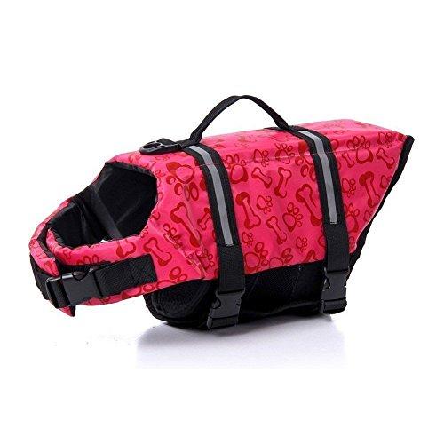 REXSONN® Schwimmweste Hunderettungsweste Rettungsweste Schwimmhilfe für Hunde Hunde-Schwimmweste Hundeweste Warnweste Float Coat Hundeschwimmweste dog life jacket