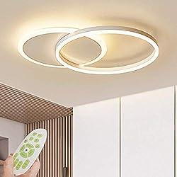 Lámpara de techo LED Lámpara de sala de estar regulable moderna Lámpara de techo de diseño con control remoto Lámpara de techo de moda Minimalista Iluminación de acrílico de metal Dormitorio Cocina