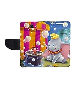 KolorEdge Printed Flip Cover For HTC Desire 516 - Multicolor(50KeMLogo8144HTC516)