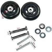 Lovinstar: 1par de ruedas de repuesto para equipaje, maleta, para Scooter, patines en línea: ruedas OD 80(80 mm x 24 mm x 6mm)
