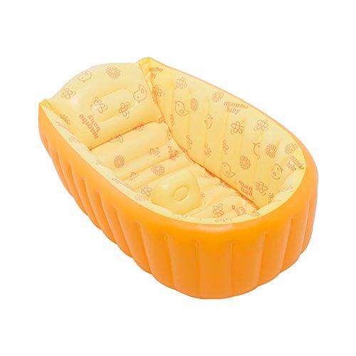 candora ™ Baby Badewanne, Sommer Baby aufblasbare Badewanne, tragbar Travel Sitz aufblasbare Badewanne, dick Baby Kleinkind Badewanne Dusche Bad für 0–3Jahre Baby für große 90x 45x 28cm Aufgeblasen (Cap Aufgeblasen)