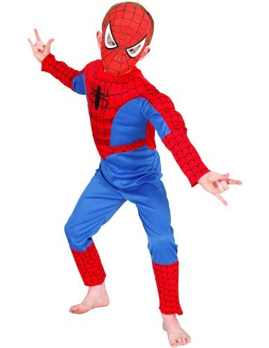 Spider-Man Spiderman – I-881309 – Kostüm – Luxuskostüm + Sturmhaube – Spiderman