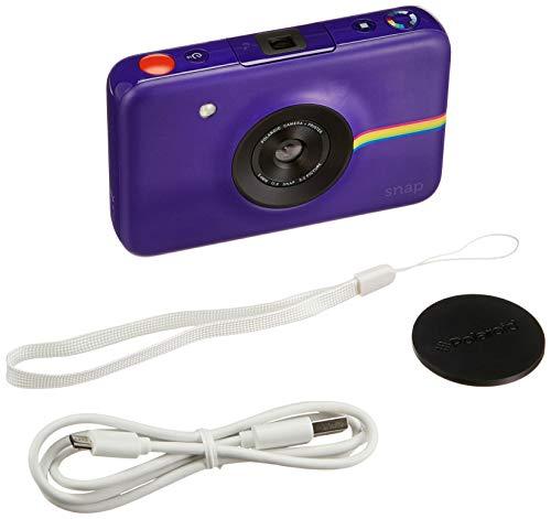 Polaroid Snap - Cámara digital instantánea (tecnología de impresión ZINK Zero Ink, 10 Mp, Bluetooth, micro SD, fotos de 5 x 7.6 cm), color púrpura