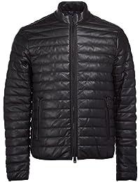 Armani Jeans Men's Eco Leather Black Jacket