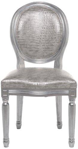 Kare Design Stuhl Louis, Esszimmerstuhl im Barock-Stil, Polsterstuhl mit runder Rückenlehne,...