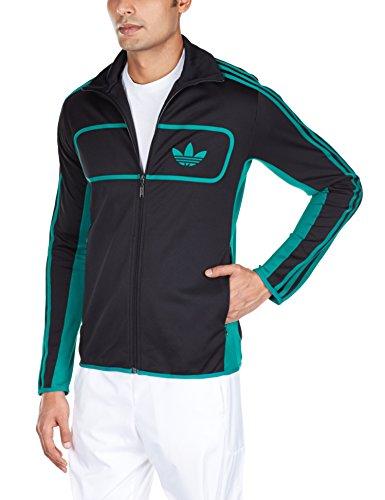 Adidas Jacke Street Diver TT Herren black-sub green (M30171), 56-58, schwarz