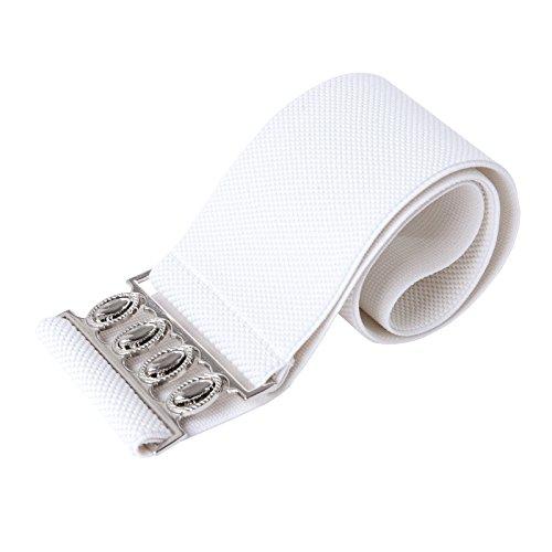 Damen Guertelschnallen Waist Belts Weiss X-Large CL008961-2
