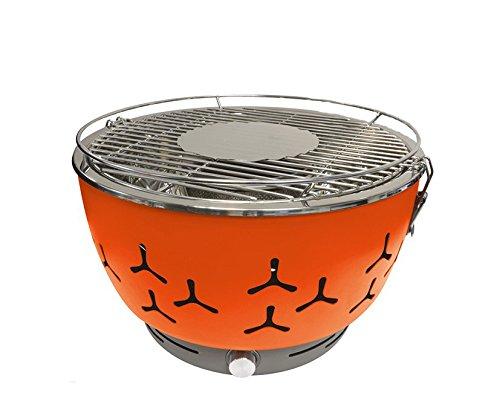 Go BBQ Tragbarer Holzkohlegrill - Grillen Sie, wann und wo Sie wollen - ideal fürs Camping, für den Balkon, den Garten oder die Terrasse - Flexibel, da batteriebetrieben