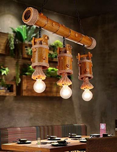 Hartholz-bar (ZXDD Pendelleuchten Kronleuchter Deckenleuchten, amerikanische ländliche kreative Pastorale Hartholz Cafe Lounge Bar, die Schlafzimmer: EIN Kronleuchter hängen Linie einstellbar, Kronleuchter Kristal)