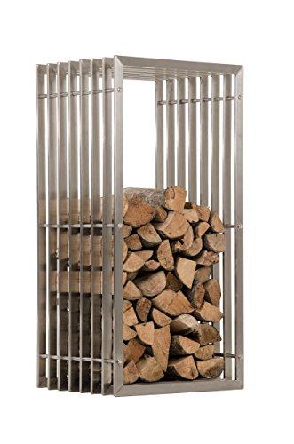 Mendler Kaminholzständer CP566, Feuerholzregal ~ 100cm, Edelstahl