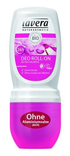 Lavera Deo Roll On 24H Bio Wild Rose ∙ zarte Frische ∙ 24ore deo protezione ∙ Deodorante senza alluminio ∙ Vegan ✔ Bio Pianta wirkstoffe ✔ cosmetici naturali ✔ Natural & innovative ✔ Cura del corpo 1er Pack (1X 50ML)