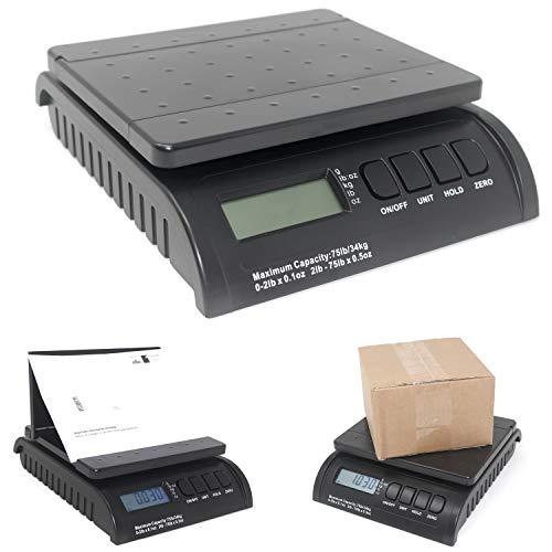 Product Nation Digitale Postwaage - Elektronische Waage für alle Pakete und Versandkosten bis 34 kg - wissen Sie Ihre Box und Briefgewicht - große oder kleine Kartons - Paketversand mit Vertrauen