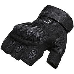 Hikong Herren Taktische Einsatzhandschuhe Handschuhe Sport Outdoor Fitness Training Fahrrad Motorrad Army Gloves Halbfingerfinger 3 Farben