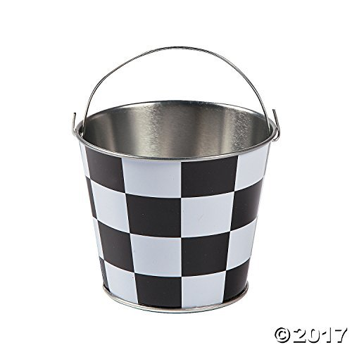 Mini Checkered Pails - 12 ct
