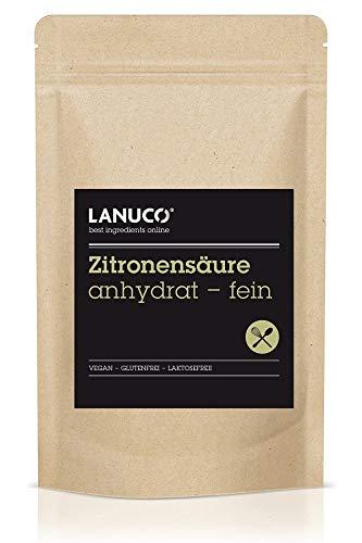 Zitronensäure Anhydrat - 1 kg Lebensmittelqualität E330, reines Pulver, Pulverform, Antioxidans,...