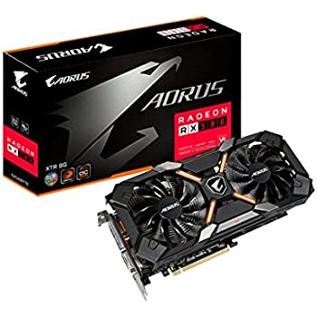 Gigabyte AMD GV-RX580XTRAORUS-8GD 8 GB GDDR5 256-Bit Memory DVI/DP/HDMI PCI Express 3 Graphics Card - Black
