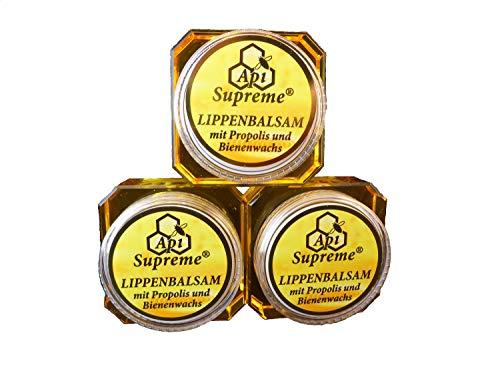 Api Supreme Lippenpflege Lippenbalsam mit Propolis und Bienenwachs 3 x 12ml