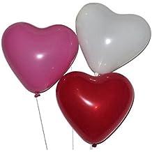 Globos Latex Corazón Globos Decoración para Fiesta Cumpleaños Boda Colorido 50 Piezas