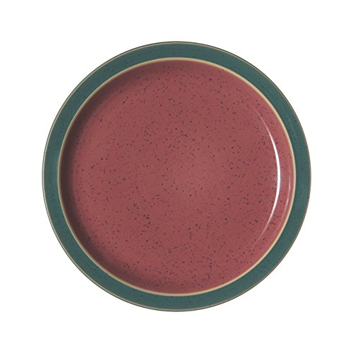 Denby HRL-004RG Harlequin Salad Plate, Red/Green Denby Blue Plate
