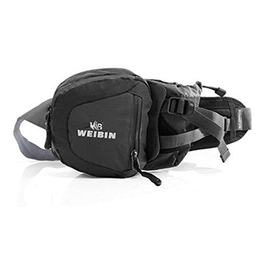 Tragbares Outdoor-Sport-Taschen lässige Männer Messenger bag Taschen Farbe Berg Schwarz