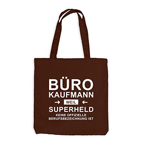 Jutebeutel - Bürokaufmann Superheld - Hero Beruf Chocolate