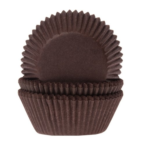 Cakes Supplies - Lot de 60 Mini Caissettes Hom Brun