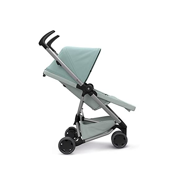 Quinny Zapp Flex Design 2018 Frost on Grey Quinny Flexible reversible seat in both Blick directions down to a horizontal lying position. Three Compact wheels - extremely manoeuvrable Classic Zapp handles - Super Strong Hold, easy to steer 7