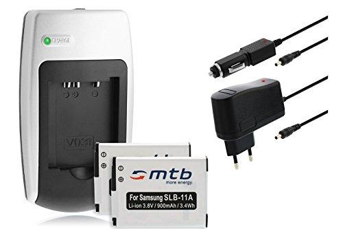 CARGADOR + 2X BATERIA SLB 11A PARA SAMSUNG TL320  TL350  TL500  WB600  WB610  WB650