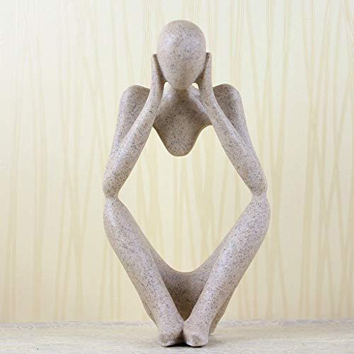 abstrakten Mann Crafts Office Home Art Desk Showcase Model House Crafts Sandstein-Verzierungen Dekorative Ornamente (Farbe : B) ()