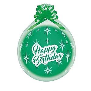 Gemar R145-119A100 Happy Birthday - Globos (100 Unidades), Transparente