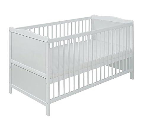 LIT bébé 70x140 blanc avec matelas. VINTAGE Livraison gratuite.