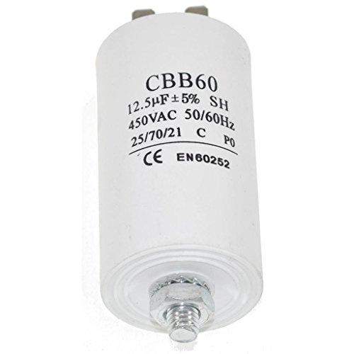 Hochwertiger Universal Start- und Laufmotorkondensator 450 Vac 50/60 Hz 12,5 UF Waschmaschine, Kompressor Klimaanlage Wasser & Luftpumpe