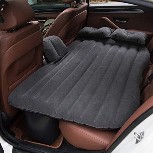 Vinteky® *Multifuncional Hinchable Impermeable Portable Adjustable* 2 en 1 Colchón para Coche y Sofá al Aire Libre, Adecuado para Viajes de Larga Distancia(Negro)