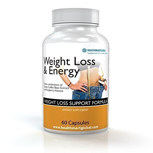 Natural Weight Loss & Energy Supplements - Contains Green Coffee Bean Extract and Raspberry Ketone