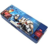 Disney & Marvel Hmi Disney & Marvel White Board Pencil Box In Cinderella, Princess, Avengers And Spider-Man Characters Multi-Functional Pencil Box With In-Built Sharpener, Multi Color.