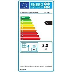 Kerosun LC 3000poêle à combustible électronique, portable, 3000W, gris, de 19m2-48m², sans installation, thermostat régulation quotidienne