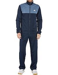 adidas Performance CF1616 Herren Freizeitanzug Reißverschluss Eingrifftaschen, Groesse 9, blau/grau