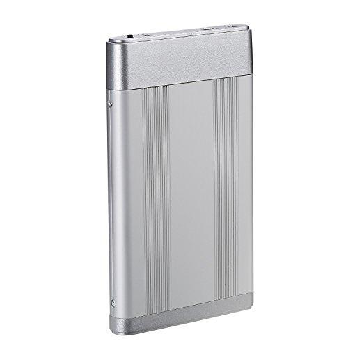 BIPRA Externe Festplatte (100GB, 6,3cm / 2,5Zoll, USB 2.0, FAT32), silberfarben silber 120 GB