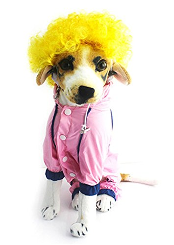 Haustier-Perücke-Kostüm-Festival-lockige lustige Welpen-Perücken (Gelb)