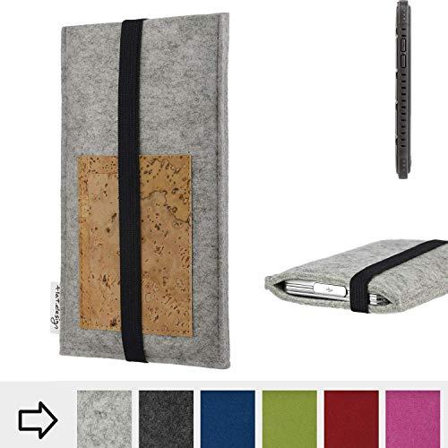 flat.design Handy Hülle Sintra für Cyrus CS 35 maßgefertigte Handytasche Filz Tasche Schutz Case Kartenfach Kork