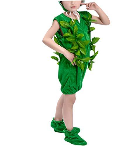 zhbotaolang Kinder Baum Kostüm Unisex Prop - Junge Mädchen Halloween Party Outfits(Grün Kurz/110)