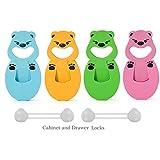 InnoBeta® Babyschutz Türstopper 2-in-1 flexible Babyfingerschutz-Schaum-Türstopper (4er-Set) + 2 Kindersicherungen als kostenloses Geschenk
